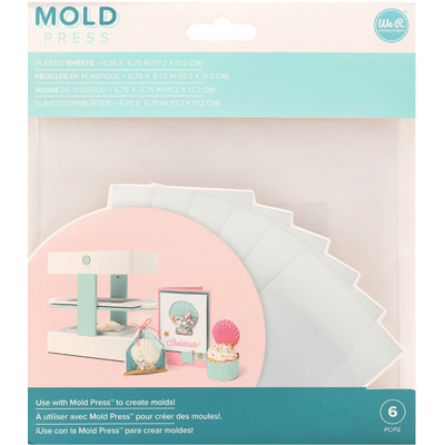 Mold Press Plastic Sheets, Clear (6 Piece)