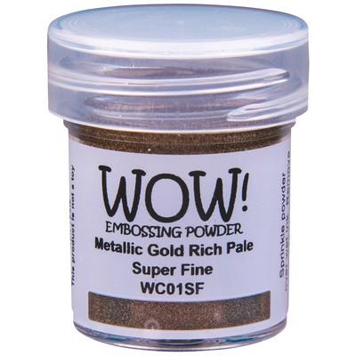Metallic Embossing Powder, Super Fine - Gold Rich Pale
