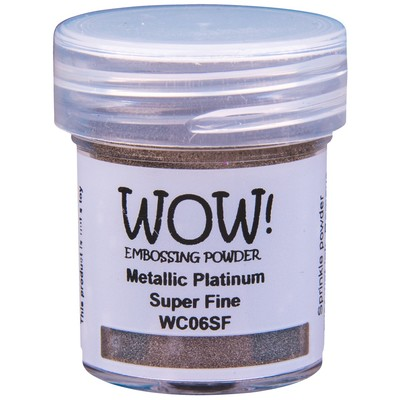 Metallic Embossing Powder, Super Fine - Platinum