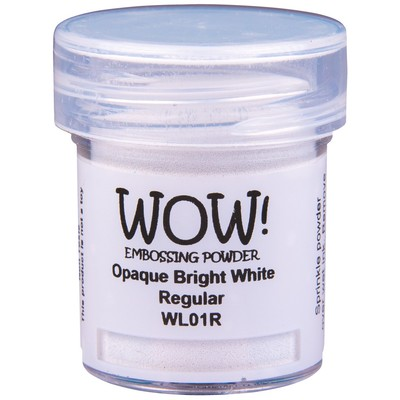 Opaque White Embossing Powder, Regular - Bright