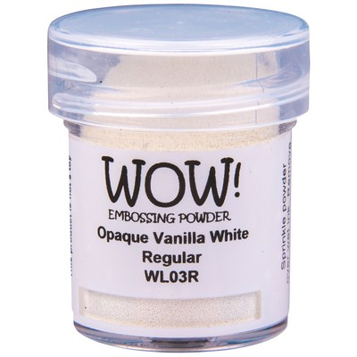 Opaque White Embossing Powder, Regular - Vanilla