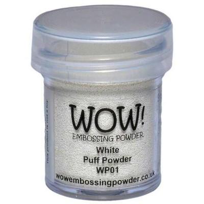 Puff Embossing Powder, Regular - White