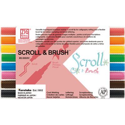 Zig Memory System Set, Scroll & Brush (8 Color)