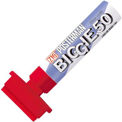 Zig Posterman Biggie 50, Red (6pc)