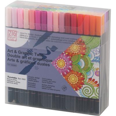 Zig Art & Graphic Twin Set, 80 Color